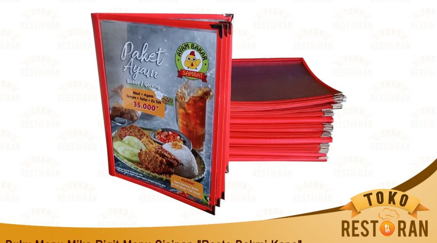 Cover Menu Lipat Mika Rigit