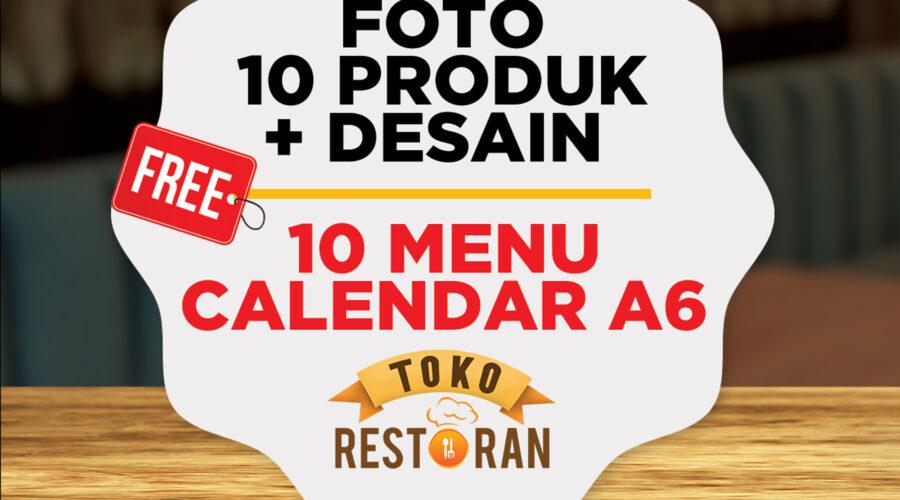 Promo Package Photo Menu + Design Menu + Cetak Buku Menu A6 ( Model Calender)